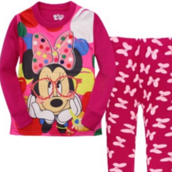Girls 2pc Pajamas Baby GAP Carter's Disney Minnie Mouse Nick /& Nora PLACE